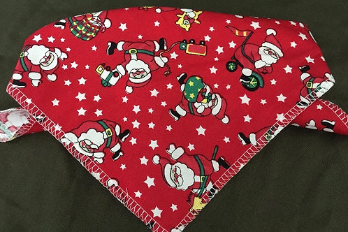 Red Santa Christmas Dog Bandana, Dog Bandanas, Neck Ties, Neck Scarves, Dog Clothing UK