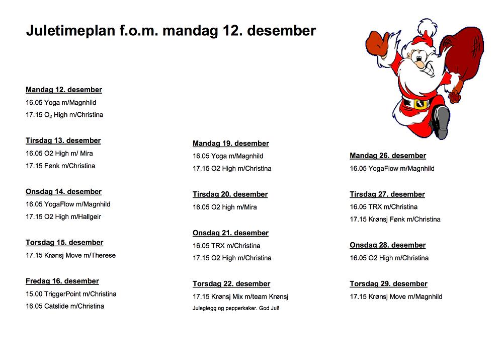 Få med deg Krønsj MIX med julegløgg torsdag 22.des kl 17.15