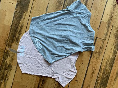 Krønsj t-skjorte med trykk på ryggen