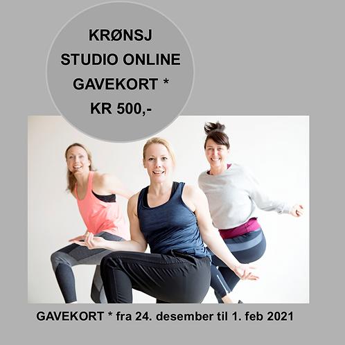 Gavekort ONLINE trening fra 24. desember til 1. februar