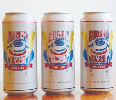 Hurry Hard lager aims to draw curlers
