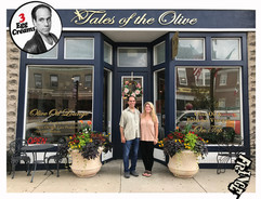 Vin Morrone visits TALES OF THE OLIVE! (Pictured: Vin Morrone, Kelbie)