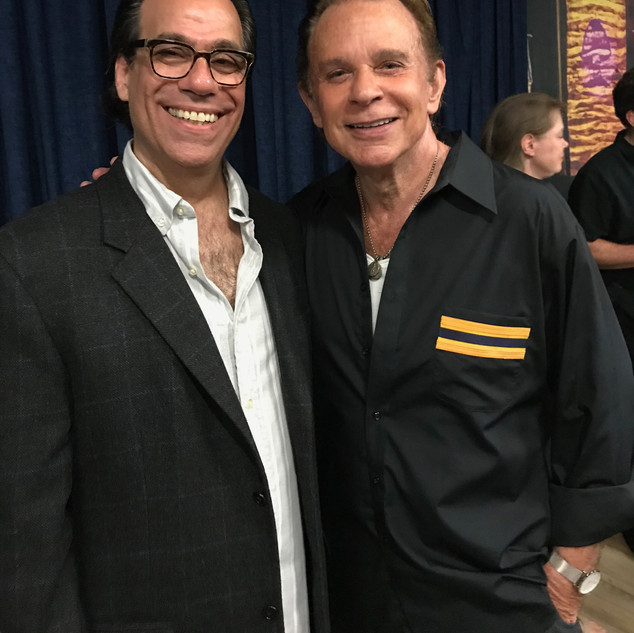 Vince Bandille with tha amazing Lou Christie backstage at The Beacon Theater where Lou tore the roof off the place!