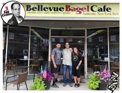 Vin Morrone visits BELLEVUE BAGEL CAFE! (Pictured: Jose, Vin Morrone, Allyson)
