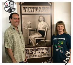 Vin Morrone visits VINTAGE BETTY'S in Hammonton! (Pictured: Vin Morrone, Connie... Daughter of Betty, the store's namesake!)