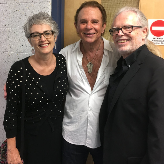 Award winning playwright George Cameron Grant, creator of 3 EGG CREAMS with his beautiful better half Debbie, hanging backstage with the amazing Lou Christie after the show at RWJBarnabas Health Arena in Toms River, NJ