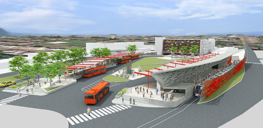 Multimedial Transportation Center