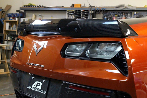 APR Rear Spoiler Track Pack W/APR Wickerbill, Carbon Fiber Spoiler