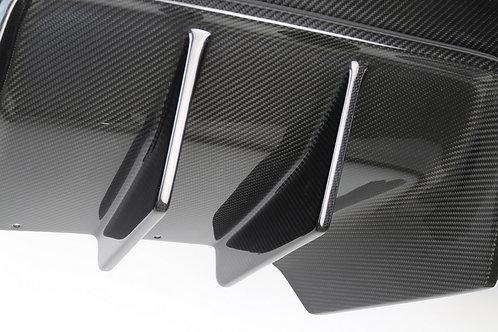 Corvette Carbon Fiber Rear Diffuser Without Under Tray