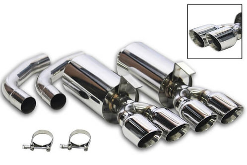 1984-1985 C4 Corvette Flowtech Axle-Back Exhaust System