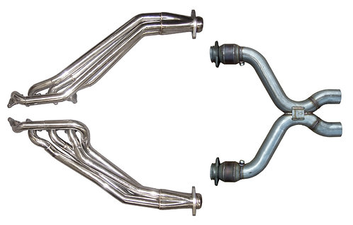 MUSTANG 5.0L HEADERS W/CATTED X-PIPE