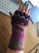 Dragon scale gloves. Crochet