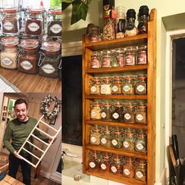 Spice rack. Carpentry