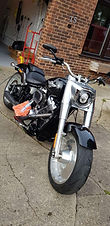 Harley Davidson with a ceramic coating bottle by Coating Farm Ceramics and microfibre