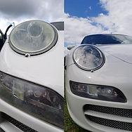 Porsche 911 headlight restoration
