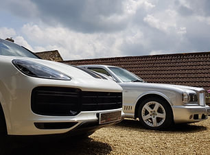 2020 Porsche Cayenne and Bentley Turbo R with Mobi ValetingDetailing custom plates