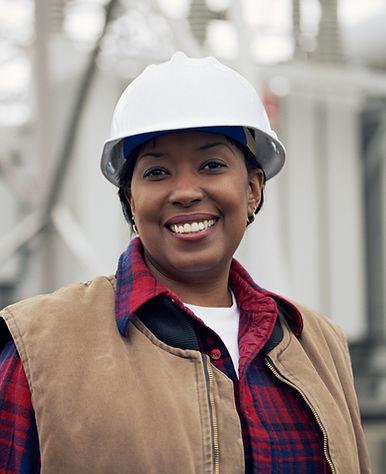 Trabalhador fêmea de sorriso