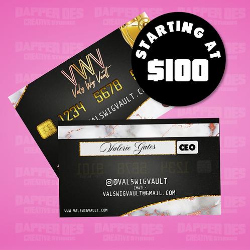 Business Cards (Design + Print Job)