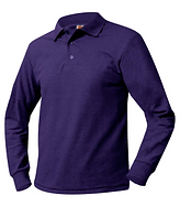 Long sleeved purple polo shirt