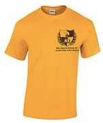 Yellow t-shirt with school logo