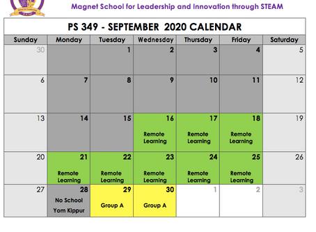 Calendar Updates 9/17/20