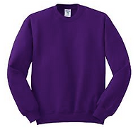 Purple crewneck sweatshirt