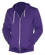 Purple zip-up hooded sweatshirt