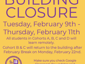 Building Closure Notice 2/9/21-2/17/21