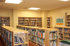 School Library with bookshelves