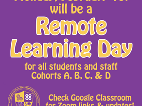 Feb. 1 - Remote Learning due to Weather Conditions