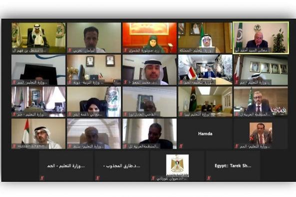 المدير العام للألكسو يشارك ، عبر الاتصال المرئي، في اجتماع وزراء التعليم العرب