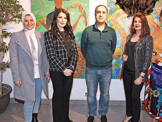 افتتاح معرض الفنون التشكيلية في  قاعة  «The Hub»