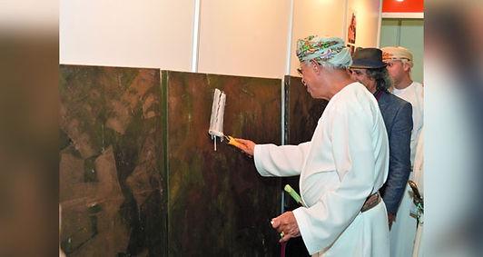 بدء فعاليات معرض عُمان الدولي للفنون التشكيلية