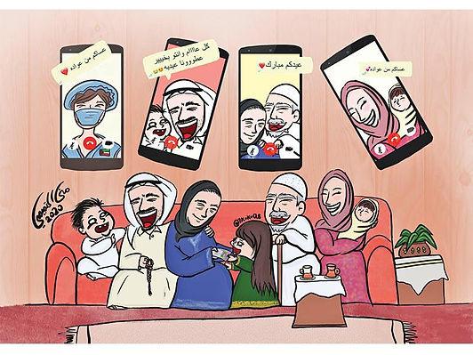 معرض جمعية الكاريكاتير يتصدى لجائحة فيروس كورونا بالرسم