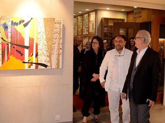 افتتاح معرض للفن التشكيلي المغربي في قاعة بوشهري
