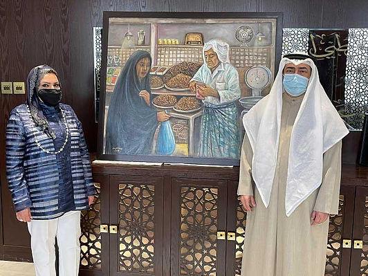 كامل العبدالجليل : ندعم الفن التشكيلي بالكويت