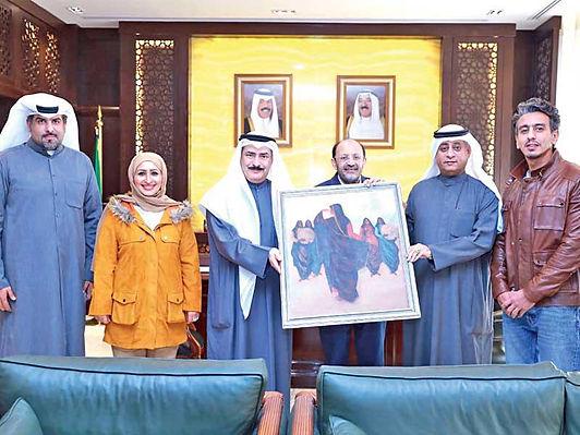 المجلس الوطني يسترد لوحة تشكيلية مهمة سُرقت من الكويت أثناء الغزو العراقي