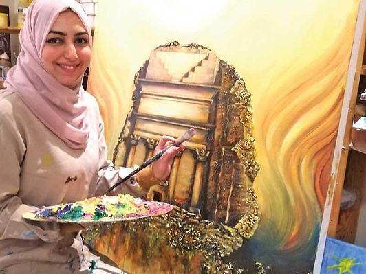 مفردات «العشق» في معرض تشكيلي سعودي