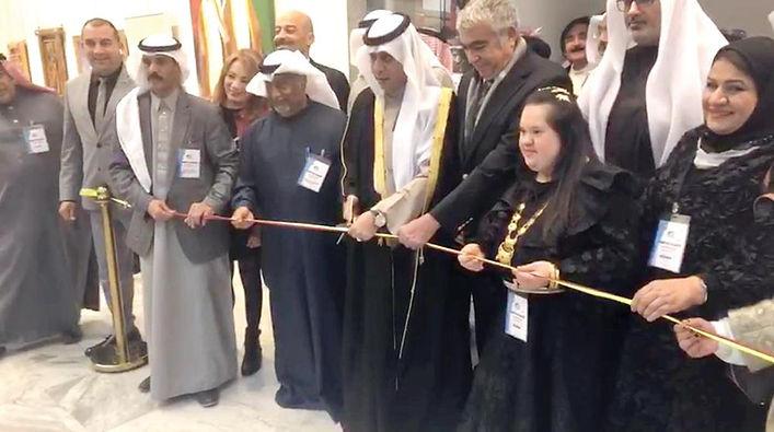 «قائد الإنسانية»... في معرض الكويت أرت الدولي للفنون التشكيلية