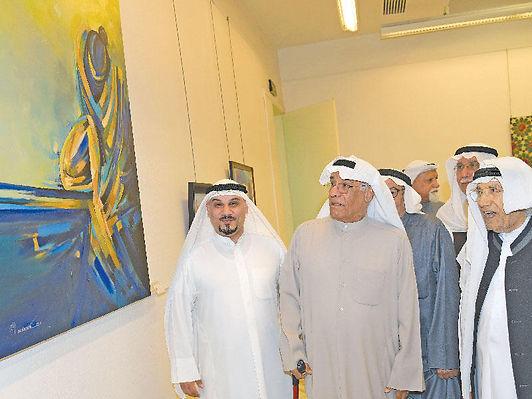 افتتاح معرض «فضاءات لونية» لفناني المرسم الحر في قاعة العدواني