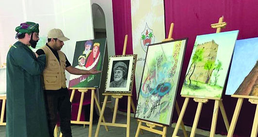 أكثر من 30 عملا فنيا في معرض عمان الدولي التشكيلي إبداعات شبابية