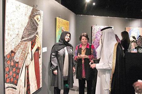 برعاية المجلس الوطني للثقافة والفنون والآداب افتتاح معرض بوخمسن التشكيلي