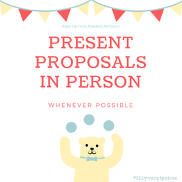 present proposals in person
