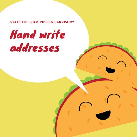 hand write addresses