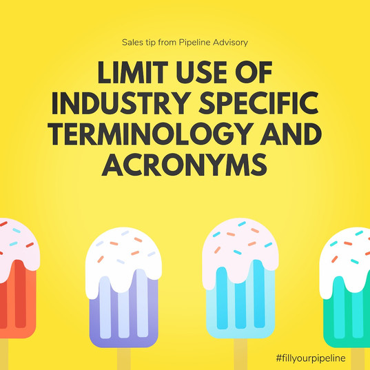 limit use of industry terminology
