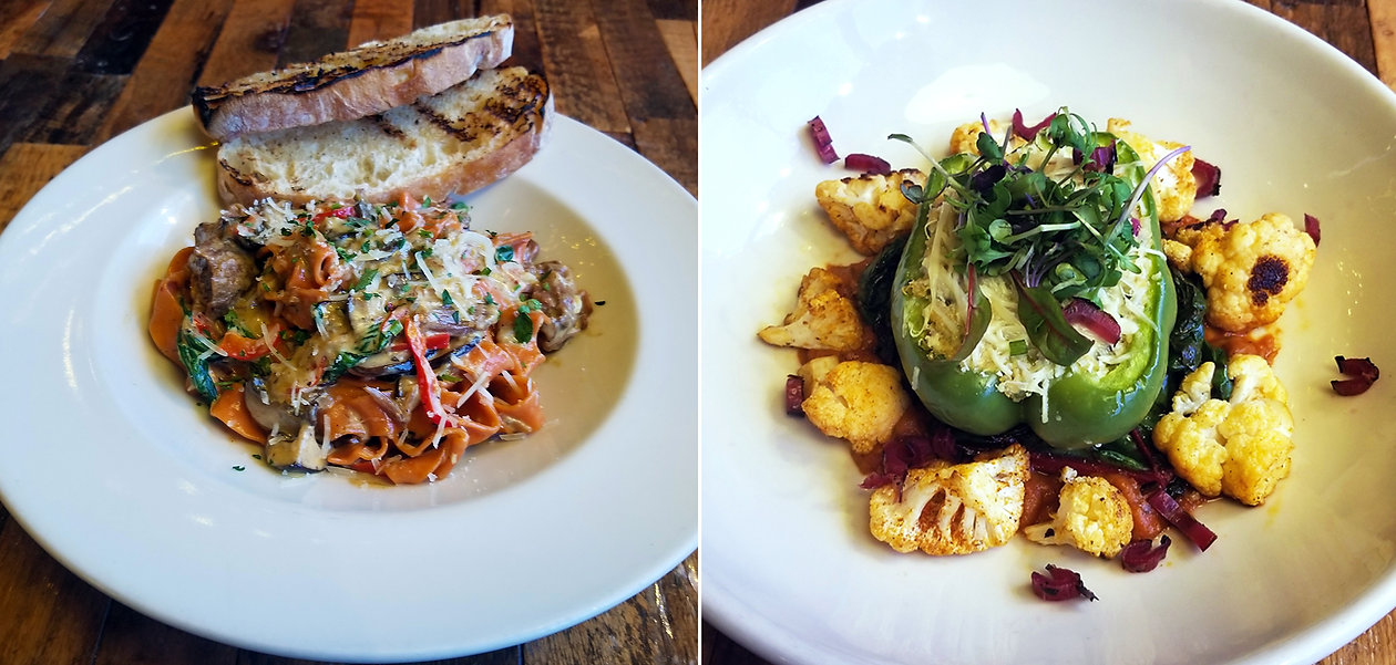 Dishes at French Meadow Bakery & Cafe