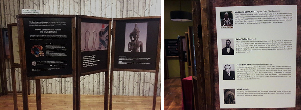 continuum exhibit at French meadow's nord social hall