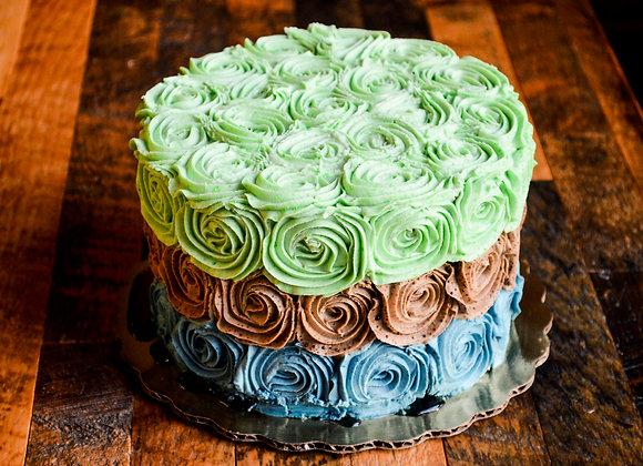 Rose Cake - 9 inch