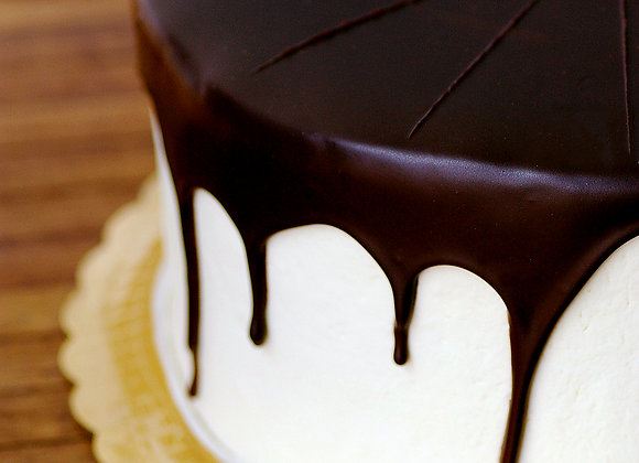 Chocolate Dipped Cake - 9 inch