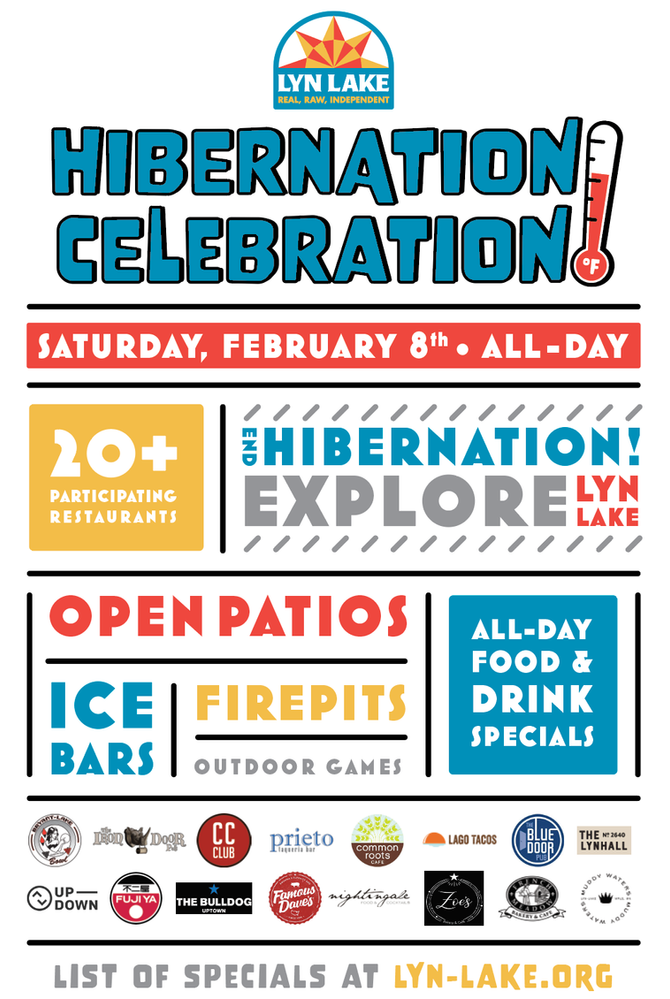 Join us for the Lyn-Lake Hibernation Celebration on February 8!